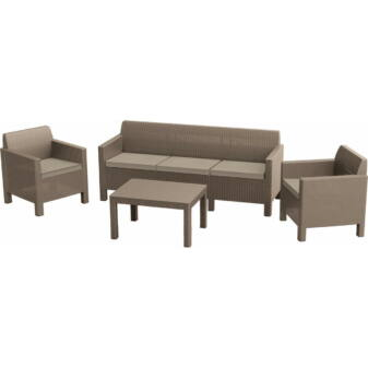 ALLIBERT ORLANDO SET WITH 3 SEAT SOFA MŰRATTAN KERTI BÚTOR SZETT